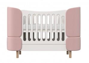 ELLIPSE Кроватка-трансформер KIDI Soft (розовый)