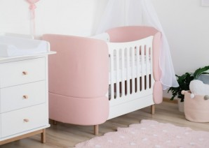 ELLIPSE Кроватка-трансформер KIDI Soft (розовый)  - фото 2