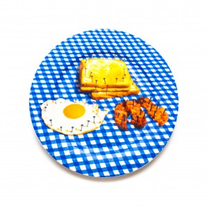 16932 Porcelain Plate Breakfast