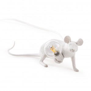 Seletti 14886 Mouse Lamp Lyie Down