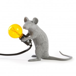 Seletti 14939 Mouse Lamp Sitting