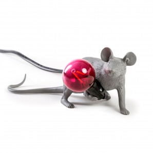Seletti 14940 Mouse Lamp Lyie Down