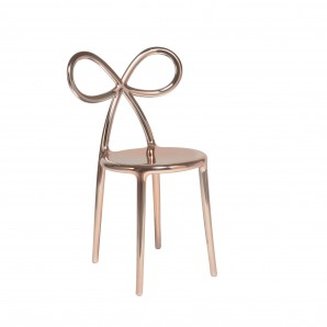 80002PG Ribbon chair Pink Gold Metal