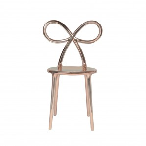 Qeeboo 80002PG Ribbon chair Pink Gold Metal - фото 2