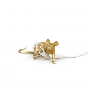 Seletti 14943 GLD Mouse Lamp Gold  Down - фото 2