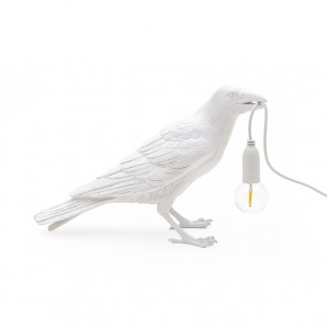 Seletti 14732 Bird Lamp White Waiting