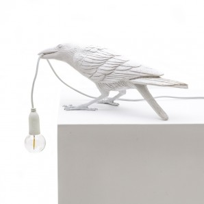 14733 Bird Lamp White Playing Оригинал.