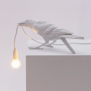 Seletti 14733 Bird Lamp White  Playing - фото 2