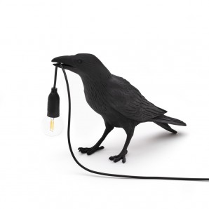 Seletti 14735 Bird Lamp Black Waiting