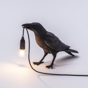 Seletti 14735 Bird Lamp Black Waiting - фото 2