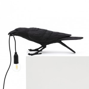 Seletti 14736 Bird Lamp Black Playing