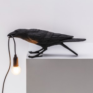 Seletti 14736 Bird Lamp Black Playing - фото 2
