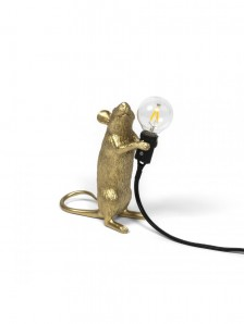 15070 GLD MOUSE LAMP GOLD STANDING Оригинал.