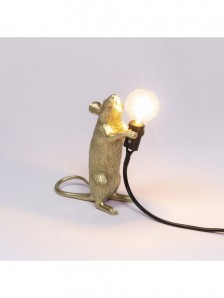 SELETTI 15070 GLD MOUSE LAMP GOLD STANDING - фото 2