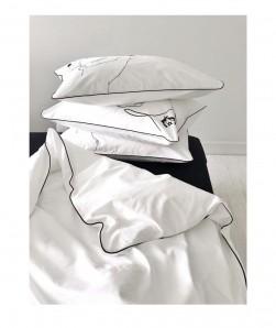 DOM_FORHERFORHIM  белый с черным кантом - фото 2