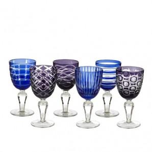 140-230-114 wine glass cobalt mix set 6 Оригинал