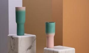 240-205-025 vase sherbet green pink s Оригинал - фото 2