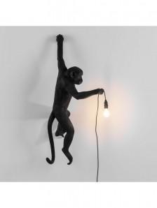 SELETTI 14921 The Monkey Lamp Black Hanging Version Left Оригинал - фото 2