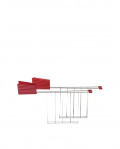 ALESSI MDL08R Plisse Toaster  Красный - фото 2