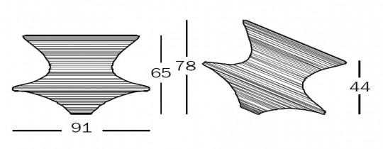 MAGIS Spun Rotating low chair SD660 Оригинал.
