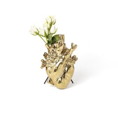 SELETTI 9921 Love in Bloom Gold  Vase