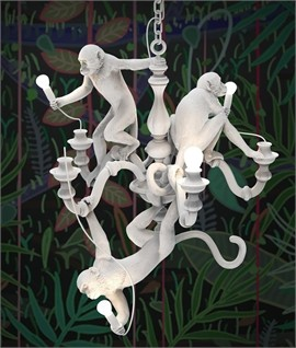 SELETTI 14865 Monkey Chandelier White Оригинал.