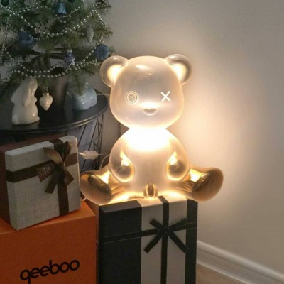 Qeeboo 24002GO-M TEDDY BOY LAMP METAL FINISH GOLD