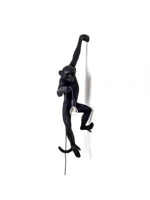 SELETTI 14921 The Monkey Lamp Black Hanging Version Left Оригинал