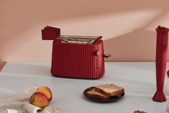 ALESSI MDL08R Plisse Toaster  Красный